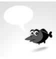 Cartoon fish vector image