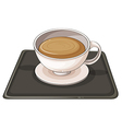 A cup of hot choco vector image vector image