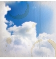 Abstract background with blue sky and clouds with