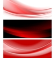 Abstract smooth waves banners vector image