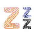 alphabet letter z kids education poster or vector image vector image