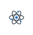 atom related glyph icon vector image vector image