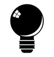 Black light bulb icon cartoon style vector image