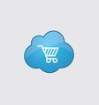 Blue shopping cart icon vector image