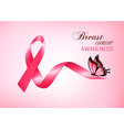 breast cancer awareness pink background vector image