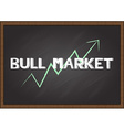 bull market on chalk board vector image vector image