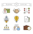 Business color icons set vector image vector image