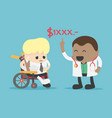 businessman with no money to pay for medical vector image vector image