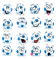 cartoon soccer ball vector image vector image