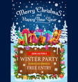 christmas and new year gifts winter holiday party vector image vector image