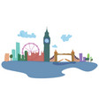 colored silhouettes london and its sights vector image
