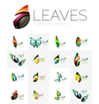 Colorful abstract geometric design leaves icon vector image