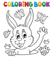 coloring book lurking easter bunny vector image vector image