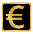 euro button on white vector image