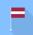 Flag of Latvia vector image vector image