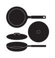 frying pan icon flat sign vector image