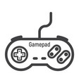 gamepad line icon console and joystick vector image vector image