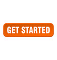 get started button started square 3d push vector image vector image