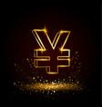 gold yuan symbol vector image