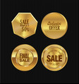 golden metal badges collection 2 vector image vector image