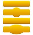 golden plaques signboards vector image