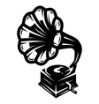 gramophone icon for logo template vector image vector image