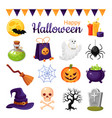 halloween decoration cartoon color vector image