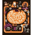 Halloween Party Poster map vector image vector image