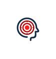 head target logo icon design vector image