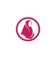 hijab black symbol vector image vector image