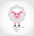 icon a cute cartoon sheep in flat design vector image