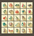 icons pharmacology and medicine vector image vector image