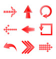 isolated object of element and arrow symbol set vector image