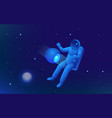 isometric web banner of explore the world of space vector image