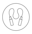 Jumping rope line icon vector image vector image
