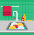 kitchen sink flat vector image