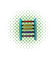 ladder on playground icon comics style vector image