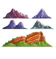 landscape constructor set with various mountains vector image vector image