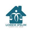 law house logo design property law logo real est vector image vector image