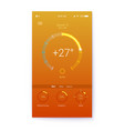 layout for summer weather mobile apps vector image vector image