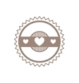 Logo design template with hearts vector image vector image