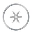 Metal shuriken icon cartoon Single weapon icon vector image