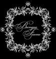 ornamental frame Baroque pattern vector image vector image