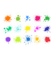 paint splashes grunge colored splatters vector image