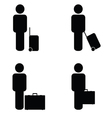 people travel icon vector image vector image
