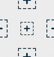 Plus in square icon sign Seamless pattern with vector image vector image