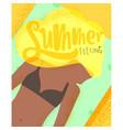 poster summer feeling vector image