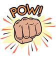 pow fist pop art graphic vector image vector image