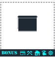 Projector roller screen icon flat vector image vector image