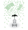 rain from money vector image vector image